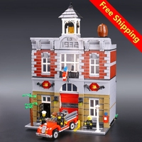 2313pcs Model Doll House Building Kit Blocks City Street Fire Brigade Educational Compatible With Legoingly 10197