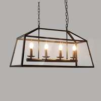 Archaistic прозрачный акриловый Футляр абажур Ретро Лофт винтажный подвесной светильник столовая Ресторан свет