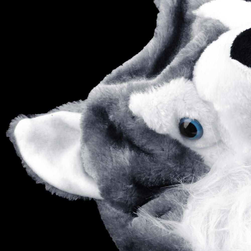Cartoon Animal style Hood Wolf Hat Hoods Beanies Cute Fluffy kids Caps Soft Warm Scarf Earmuff Plush Huskies Hats 2016 Hot Sale 7