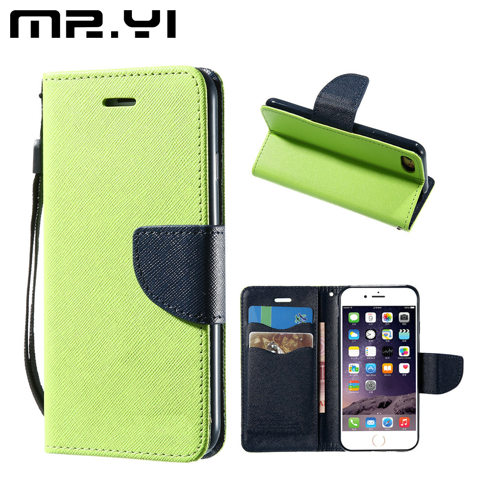 MR.YI Luxury Leather Case For iPhone 7 7 Plus Flip Card Slots Wallet Case Cover For iPhone 5 5S SE 6 6S Plus Phone Stand Holder