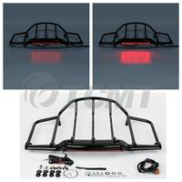 Chrome/Black LED Light Air Wing Tour Pak Pack Trunk Luggage Rack For Harley Touring Road King Electra Street Glide Motorcycle