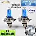 2 PCS 12V 60/55W H4 Halogen Lamp 5000K Car Halogen Bulb Xenon Dark Blue Glass Super White