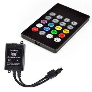 Image 3 - Capteur vocal musical, 20 touches, télécommande son, infrarouge, pratique pour fête à la maison, RGB 3528, 5050, LED, bande de lumière