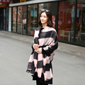 [Homewarm] Winter Scarf Women Scarves Large Tartan Scarf Pashmina Warp Shawl Acrylic Black Checked Plaid Bandana Echarpe