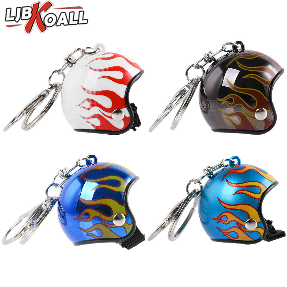 Inventive 2019 New Arrival Keychain Key Ring Keyring Car Motorcycle Bicycle Fire Flame Blaze Helmet Key China Pendants Thanksgiving Gift Clear And Distinctive