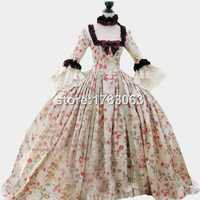 18th Century Colonial Georgian Marie Antoinette Gown Recently Made For The Displays At The World Famous