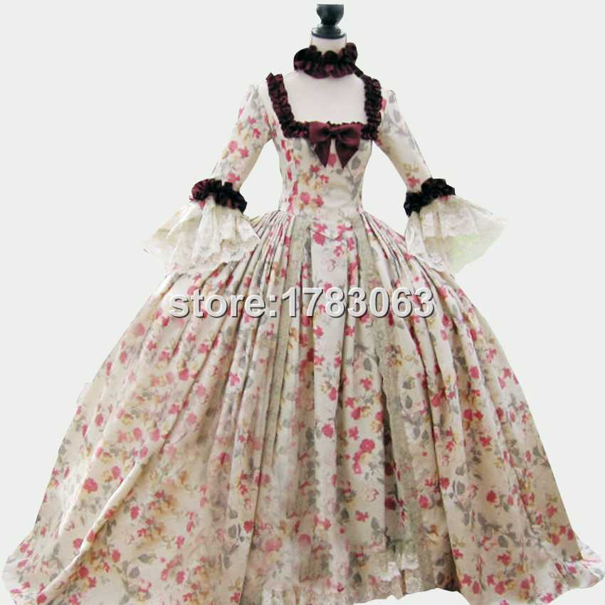 18th century Colonial Georgian Marie Antoinette gown Recently made ...
