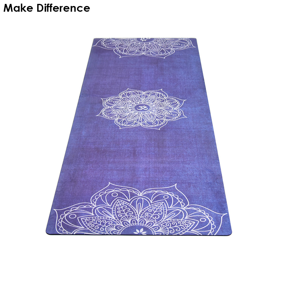Make Difference Lotus Flower Printed Natural Rubber Yoga