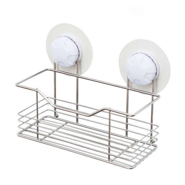 stainless steel bathroom shelf bathroom rack Suction Cup wall organizer / vacuum lock system --Free shipping!