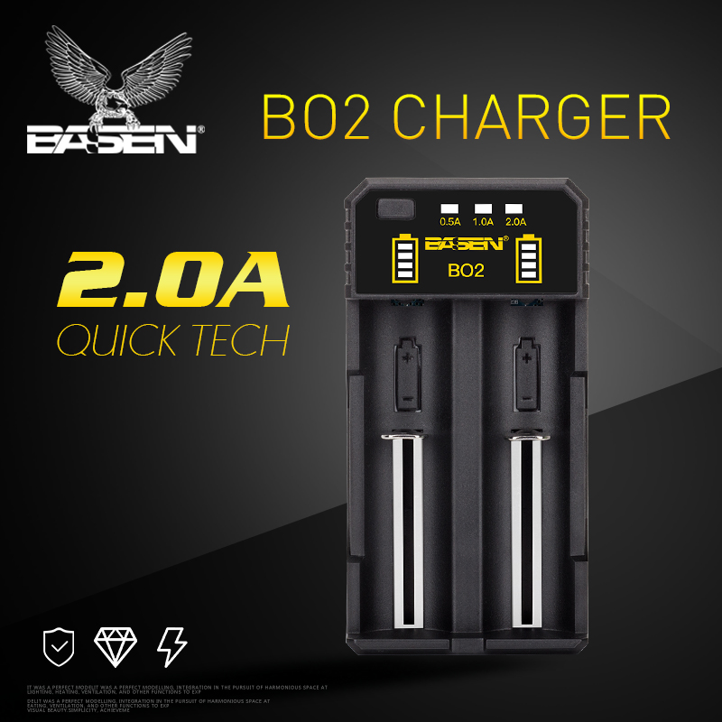 Basen Electronics charger for battery Lithium Intelligent 5V/2A USB charger for li-ion battery 2 slot Besencharger BO2