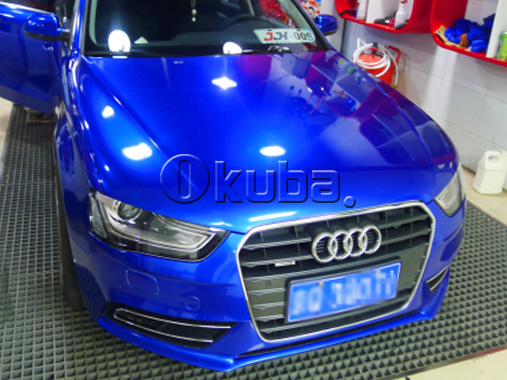 Super Glossy Metallic Glossy Blue Car Wrap Film Metal Blue Vinyl
