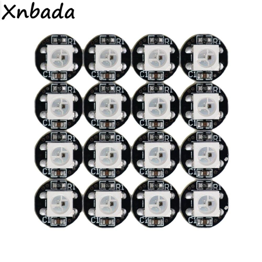 10-1000 sztuk WS2812B WS2812 4Pin RGB chip led 5050SMD WS2811 IC czarny/biały PCB z radiatorem DC5V