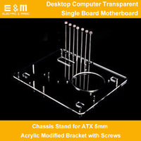 PC Test Bench Open Air Frame Desktop Computer for ATX Motherboard Chassis Stand 5mm Acrylic DIY Mod Overclock Bracket with Screw