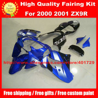 Motorcycle Parts for Ninja ZX9R 2000 2001 ZX 9R 00 01 blue black high grade custom race fairing kit with free gifts
