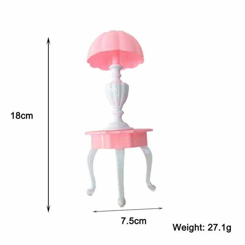 6 Pcs מיניאטורות בית בובות ריהוט ערכת צעצועי DIY בעבודת יד פלסטיק אירופאי סגנון ספה כיסא שולחן מנורת וילה בית בובות אבזר