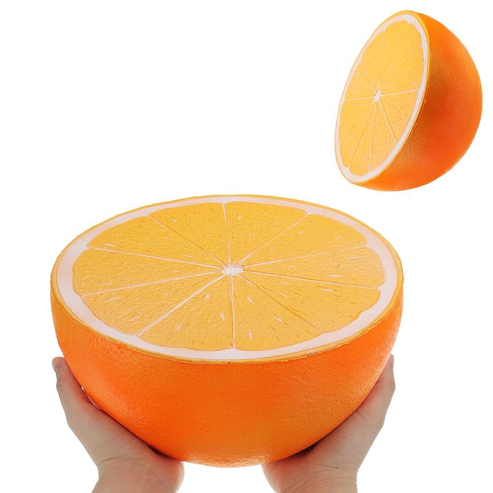 Énorme Orange Squishyed Jouet 9.84in 25*25*14 cm Géant Lente Montée Dessin Animé Cadeau Collection Doux Squishying Jouets pour Les Enfants Enfants