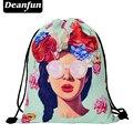 Deanfun 2016 новая мода рюкзак 3D печать путешествия softback мужчина женщины harajuku drawstring сумка мужские рюкзаки SKD80
