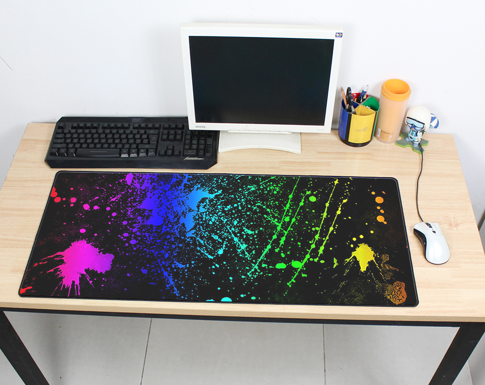 401f6f59b883 cheapest Large mouse pad 900x400mm speed Keyboards Mat Rubber Gaming  mousepad Desk Mat game player Desktop PC HD print Laptop