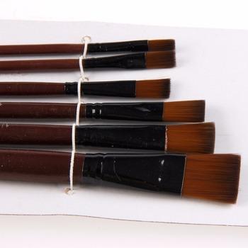 1 zestaw 6 sztuk artystów pędzle nylonowe akrylowe pędzle malarskie na materiały artystyczne zestaw akwarelowy materiały malarskie tanie i dobre opinie CN (pochodzenie) Other