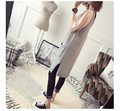 Beautiful!!! Long slim design casual solid open stitch Korean style Women Vest Jackets cotton overcoats sleeveless Size Free