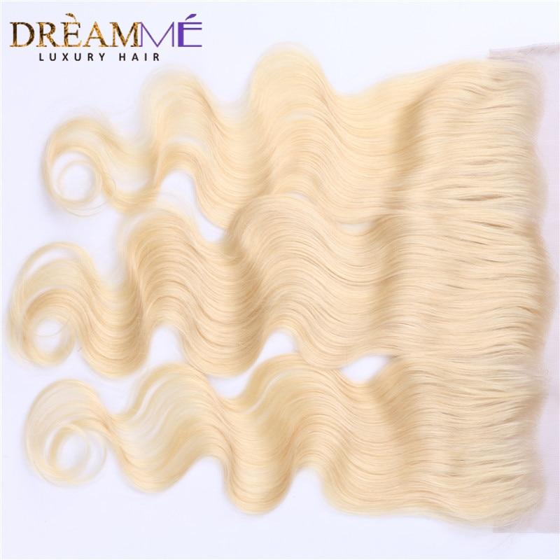 Dreamme Hair # 613 Barva las čelnih čelnih zaprtja Brazilski - Človeški lasje (za črne) - Fotografija 3