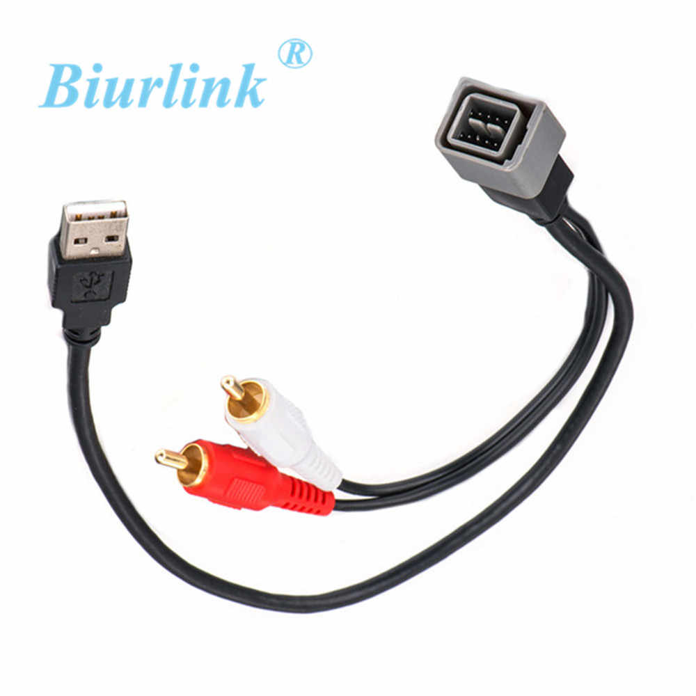 Biurlink Car Radio USB Adapter USB Port Input Retention Cable for Nissan
