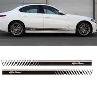2PCS YONGXUN Stickers Decal For Alfa Romeo 147 156 159 166 Giulietta Stripe Body Kit Door