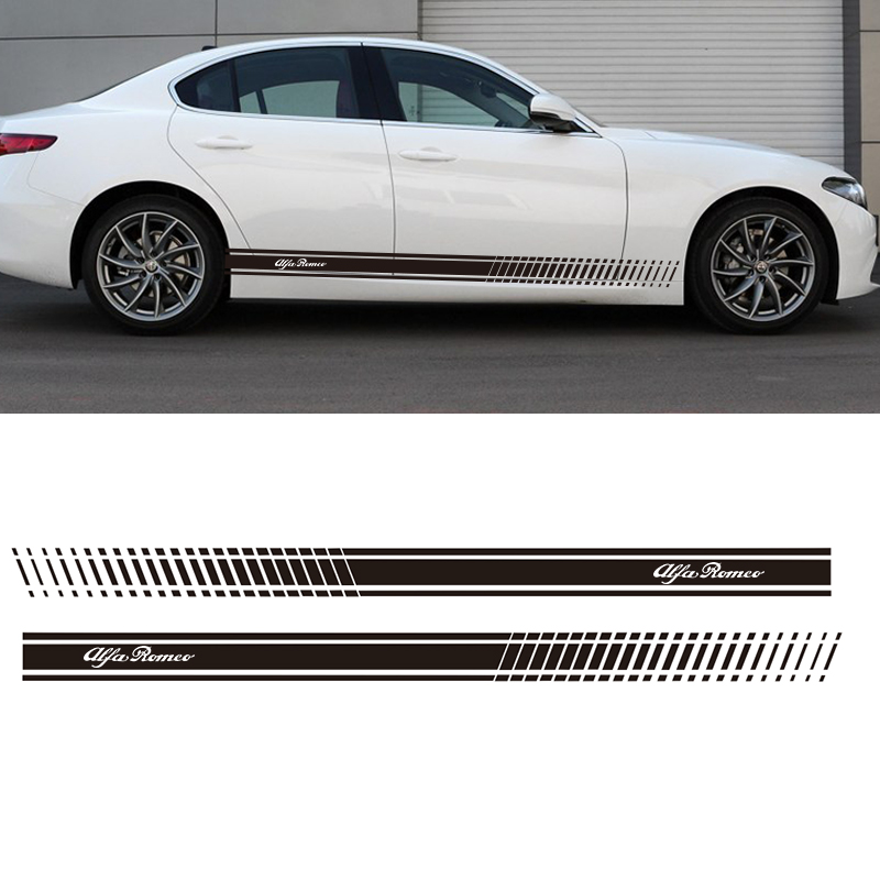 2PCS YONGXUN,Stickers Decal for Alfa Romeo 147 156 159 166 Giulietta Stripe body kit Door Handle Guard Sill DA-432 alfa romeo 147 156 gta gt 166 gtv spider lancia thesis v6 forged connecting rod high performance free shipping quality warranty