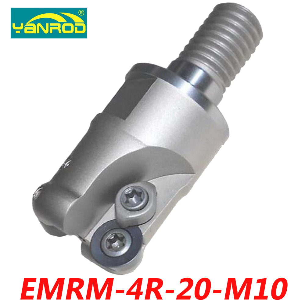 Free Shipping EMRM-4R-20-M10 Indexable Face Milling Connector For RPMW0802 Carbide Insert Suitable For Tungsten Carbide Shank hot selling indexable profile milling cutter bmr01 020 xp20 s tool holder matched for carbide insert spmt060304 zdet08t2cyr10