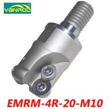 Бесплатная доставка EMRM-4R-20-M10 индексируемой торцевая фреза разъем для RPMW0802 карбида вставки подходит для карбида вольфрама хвостовик