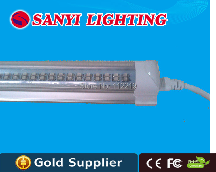 Indoor greenhouse plant tube grow light t8 led tube 600mm SMD3528 10w red 630nm blue 460nm ...