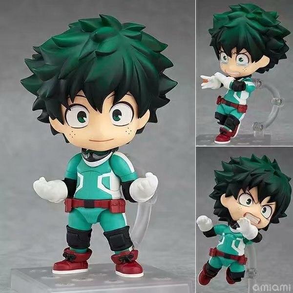 Huong Anime 10CM Nendoroid My Hero Academia Izuku Midoriya 686 / Bakugou Katsuki 705 PVC Action Figure Collectible Model Toy ( China Version )