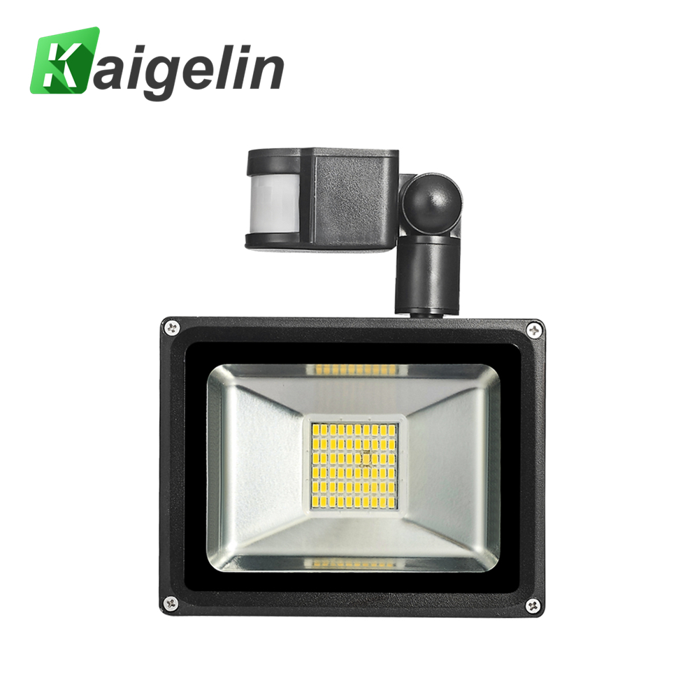 2PCS Kaigelin LED Sensor Floodlight 30W 220V 60 LED'er SMD 5730 Infrarød Sensor Flood Lamp Udendørs Belysning Induktion Floodlights