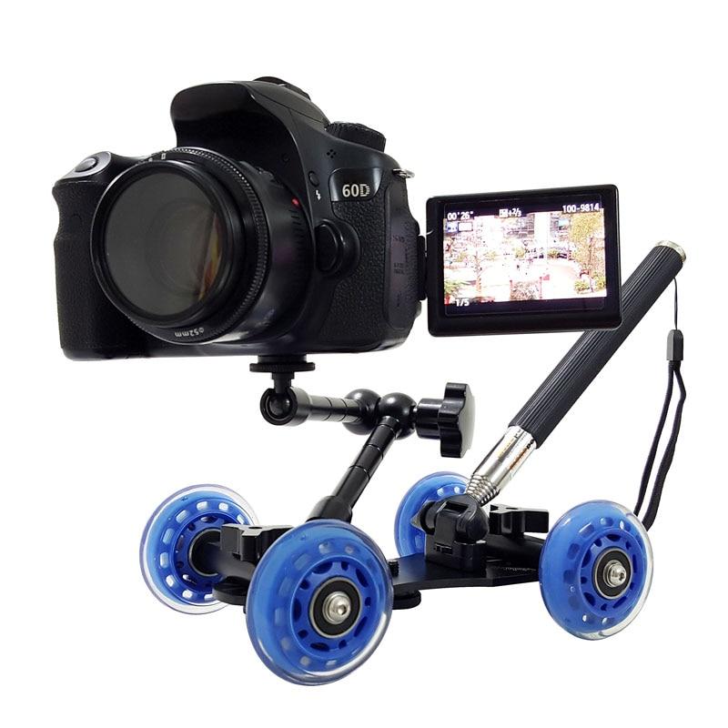 3in1 stalo fotografija dolly + 11 colių Magic rankena + rankinis svirtis monopod DSLR stelažo kameros vaizdo rinkinys D7100 750D 80D priedai