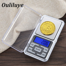 Hight Precision Mini Digital Weight Scale 0.01g for Gold Sterling Silver Scale Jewelry Weighting LCD Electronic Pocket Scales digital pocket scale portable lcd electronic jewelry scale gold diamond herb balance weight weighting scale 200g 500g 0 01g