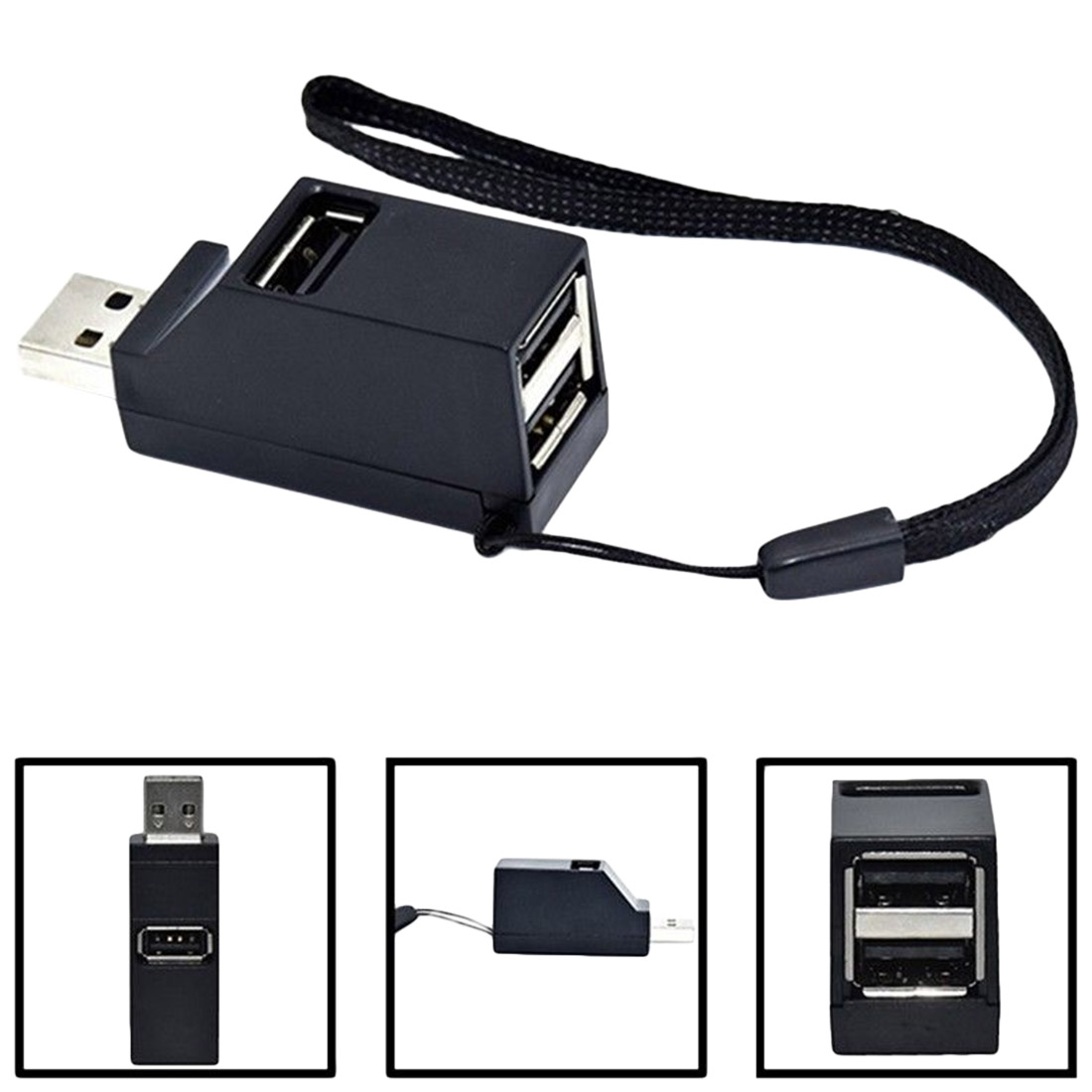 USB Hub Mini USB 2.0//3.0 Hi-Speed Multi Port USB Hub Splitter Hub Adapter for PC Computer for Portable Hard Drives
