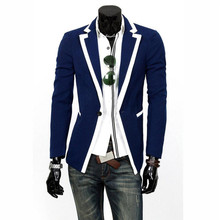 Fashion New Mens Jacket Slim Fit Suits Stylish Casual Coat Jacket One Button Blazers