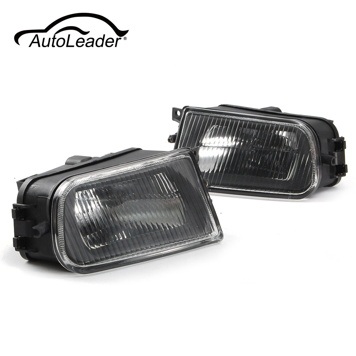 AutoLeader 1 Pair Left/Right Black Fog Lights Bumper Lamp Housing for BMW E39 5-Series 97-00/ Z3 97-01 63178360575 63178381977
