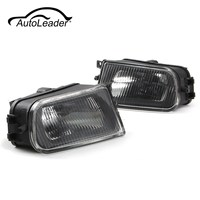 AutoLeader 1 Pair Left Right Black Fog Lights Bumper Lamp Housing For BMW E39 5 Series