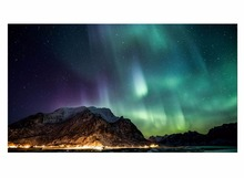 1 Panel Northern Light Canvas Painting Green Aurora Picture Modern HD Print Wall Art For Living Room Decor Framed