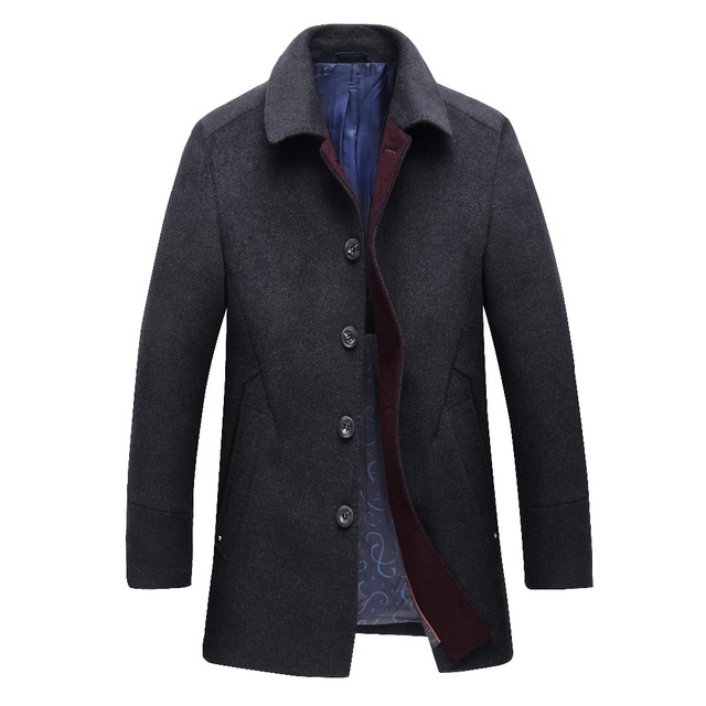The high quality men long men thickening in cashmere wool coat big coat winter coat 4XL 5XL  6XL7 8XL  Increase the size, free s