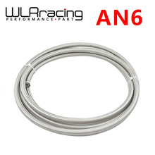 WLRING STORE- 6 AN – 6 (8 mm 5/16″) PTFE Stainless Braided Teflon Racing Hose Fuel Oil Line WLR7512