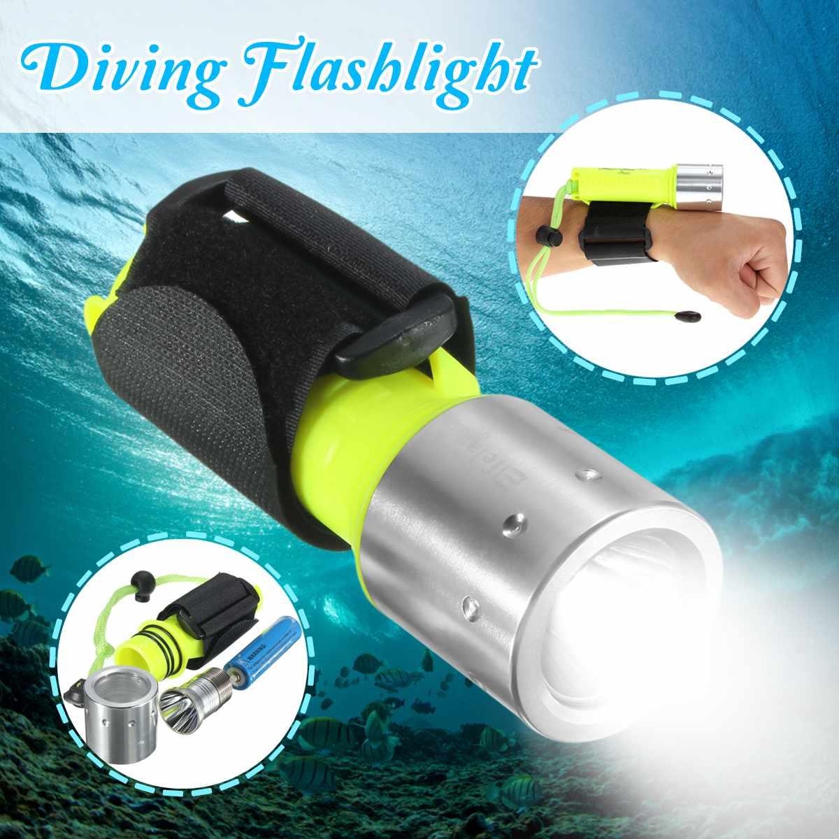 Smuxi 6000 Lumens Diving Flashlight Underwater 50m Torch 18650