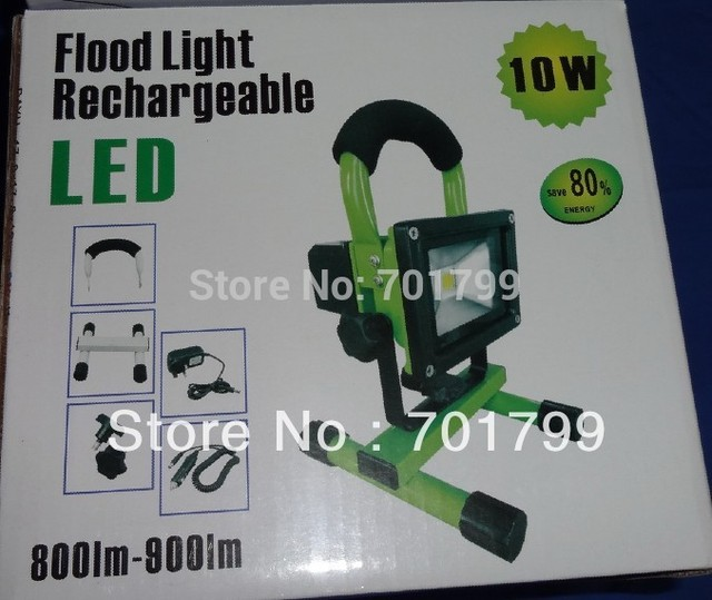 10W Chargeable LED FLood Light;with AC adaptor and car adaptor