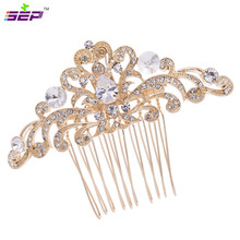 Zircon Rhinestone Crystal CZ Flower Hair Combs Side Comb Wedding Bridal Hairpins Accessories Jewelry Drop  CO1460R