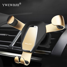YWEWBJH Gravity Bracket Car Phone Holder Flexible Universal Car Gravity Holder Support Mobile Phone Stand For iPhone For Samsung car cute cartoon mobile phone flexible gravity holder