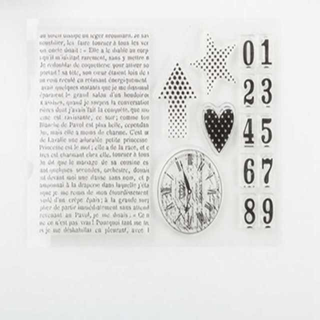 New Scrapbook DIY Photo Album Cards Transparent Acrylic Silicone Rubber Clear Stamps Sheet LACE RIBBON English