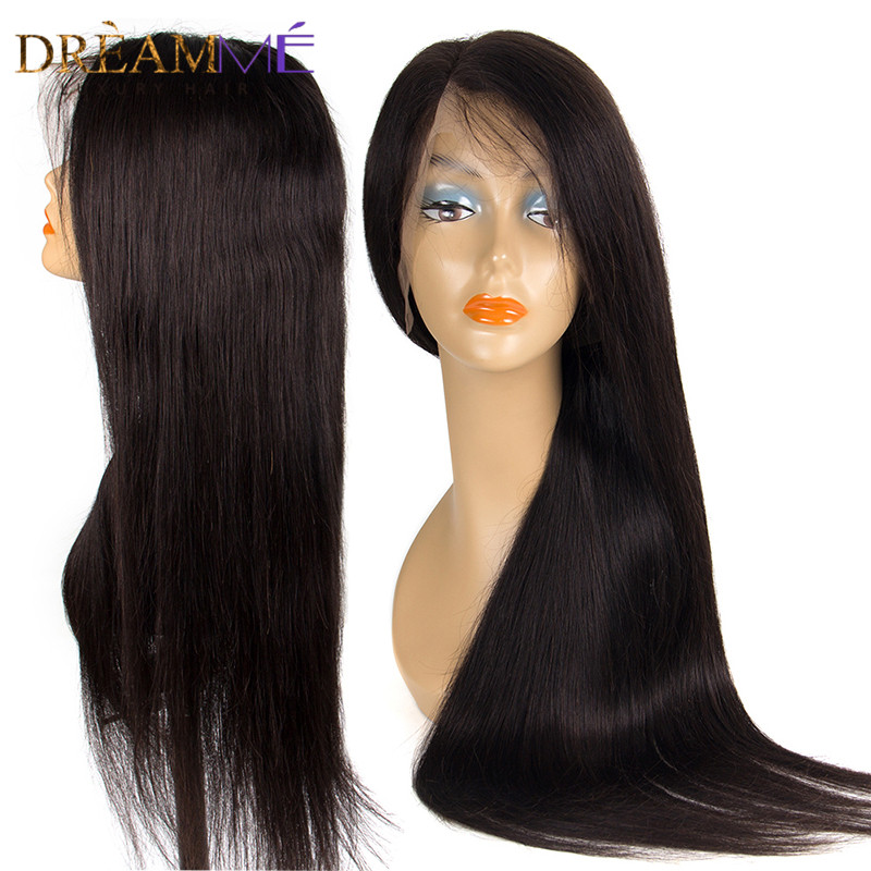 360 Lace Frontal Wig 150 Density Straight Lace Front Human Hair Wigs Pre Plucked Babyhair Full