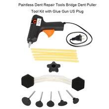 Công cụ Paintless Dent Loại Bỏ Sửa Chữa Nhà Để Xe Các Công Cụ Tự Động Hiện Ra MỘT Vết Lõm Kéo Cầu Xe Kit DIY Tay Ddr Công Cụ Ferramentas + QUÀ TẶNG