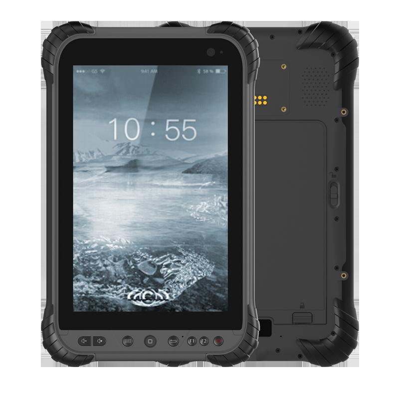 8 Inch 450Nits Android 8.1 Dual Sim  Dual Standby RAM 3GB ROM 32GB  Rugged Tablet PC ST84